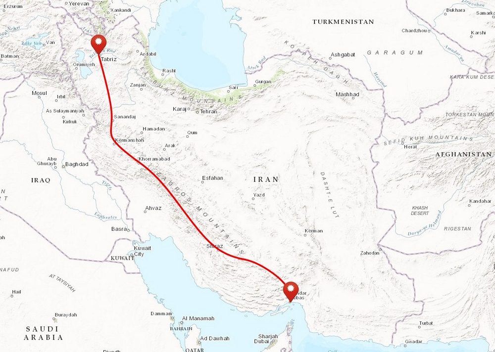 przejcie gr zagros iran mapa