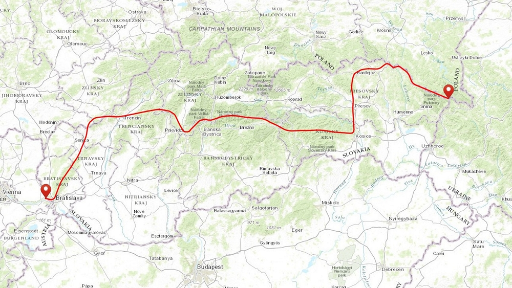 szlak cesta snp słowacja