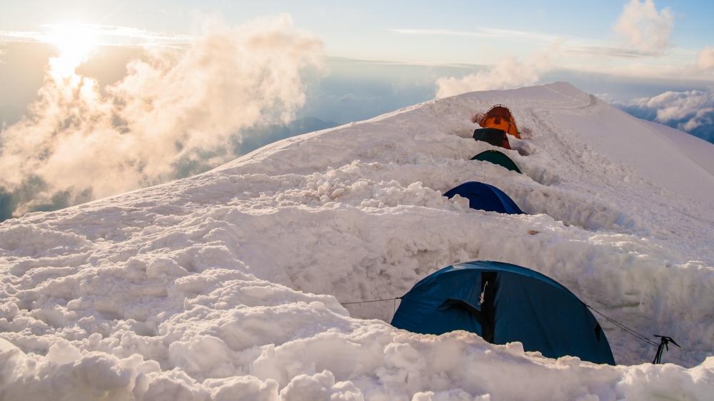 sprzęt i namiot na mont blanc