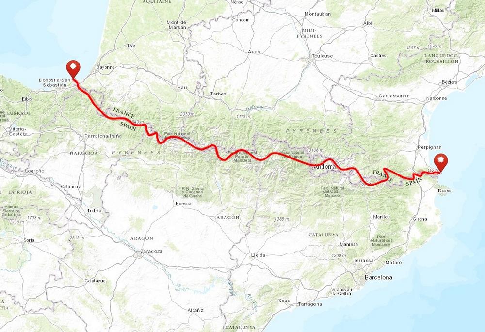 pireneje_hrp_mapa