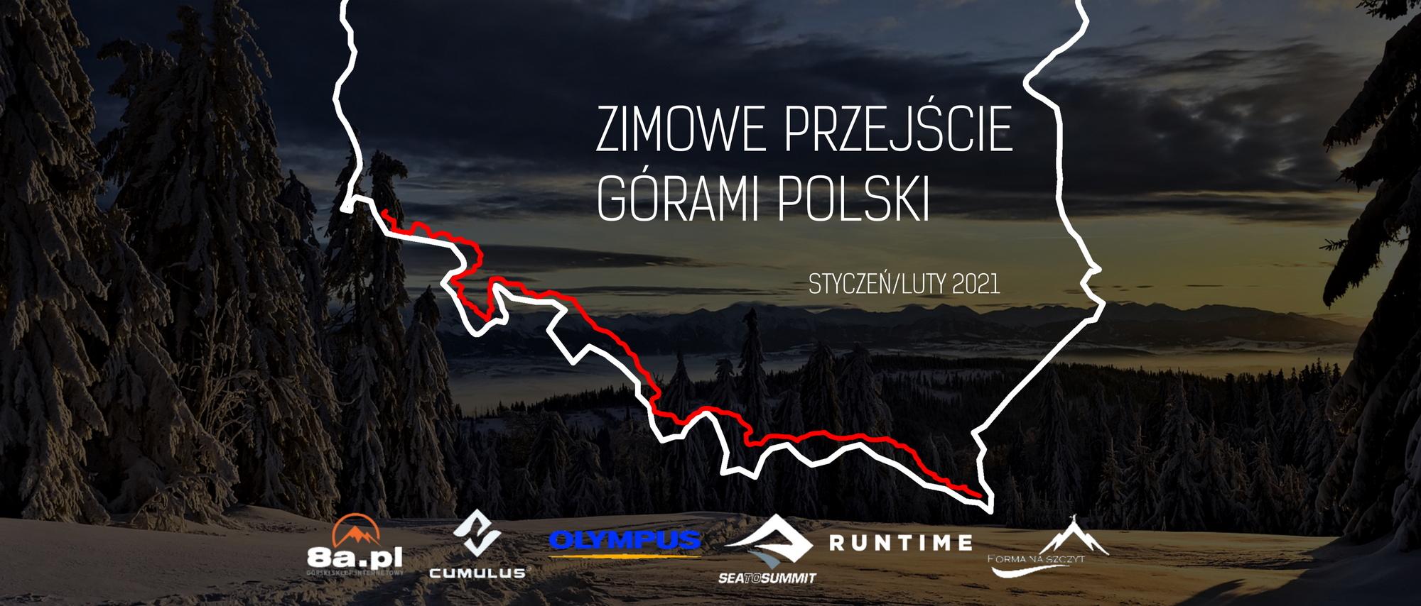 Zimowe przejście górami Polski
